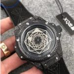 Replica Hublot Big Bang Sang Bleu All Black Diamonds