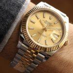 Replica Rolex Datejust 41 Champagne Dial Jubilee Bracelet 126333